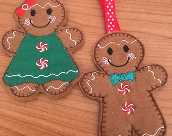 gingerbread boy and girl , gingerbread hanging decoration