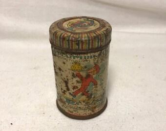 Old Metal cream CAIFFA PARIS is the perfect planter box Vintage