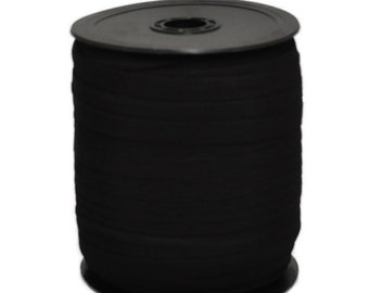 "3/8"" Black Knitted Elastic Roll 144 yds"