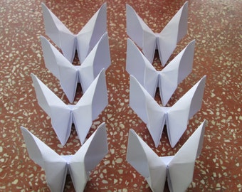 500 Paper Origami Butterfly- Pure White Color (V 8), 4  x 4 inches (10 x 10 cm) only for  60.00 USD