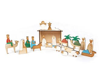 Advent Calendar | Christmas Decorations | Wooden Advent Calendar | Wooden Nativity Scene | Wooden Nativity Advent Calendar | Nativity Scene
