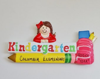 Personalized Kindergarten  Christmas Ornament - Kindergarten Christmas Ornament