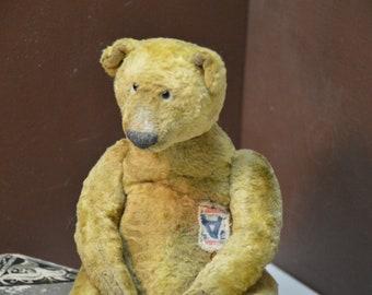 SOLD. Artist Teddy Bear OOAK antique teddy bear vintage toy Plush Sawdust Soft sculpture Teddy Bear to order Сlassic teddy bear
