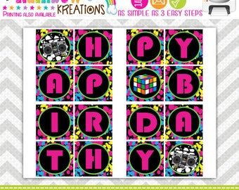 PRTYB-389: DIY - Totally Awesome 80's  Party Banner