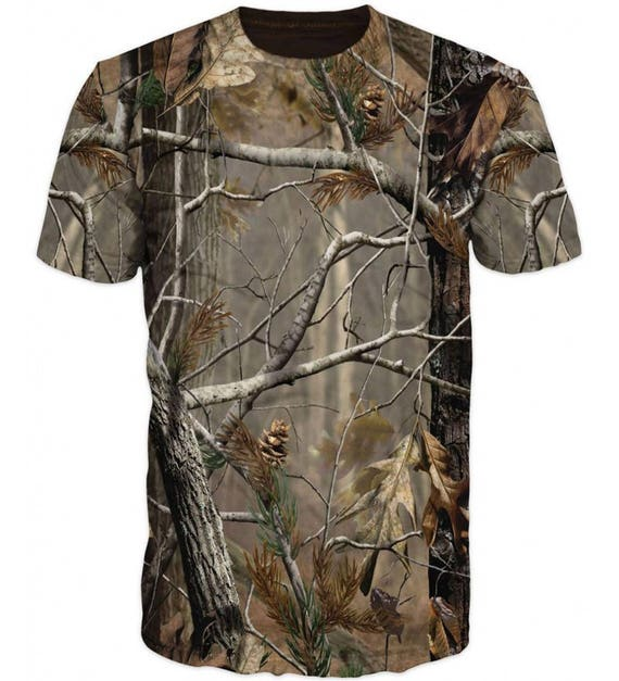 Outdoor Hunting 3D Real Tree Camouflage Partridge Duck Breathable Army Tactical Combat T Shirt UThCwrH