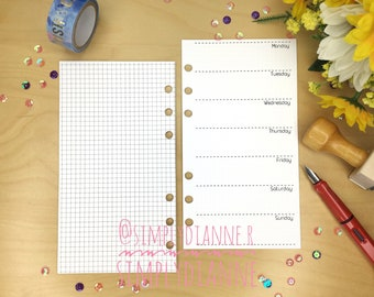 WO1 with GRAPH PRINTED UNDATED Personal Planner Insert