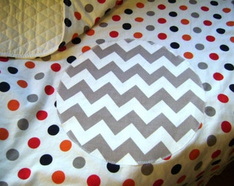Ziggity Zaggity Dot Dot Dot - Baby / Toddler Quilt and Decorative Pillow Cover