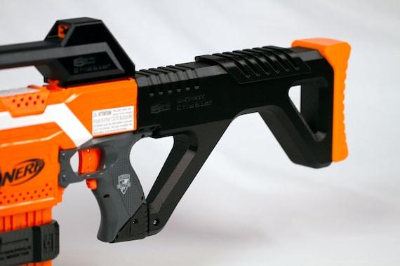... nerf gun stock, nerf stock,. Download: free. Website: Thingiverse