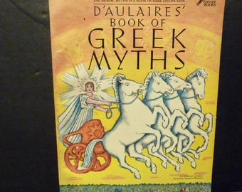 Dulaires' Book of Greek Myths - A Children's Classic - 1962 1st edition Paperback