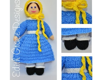 Doll Knitting Pattern - Victorian Doll - Knit Doll - Victorian Dress - Toy Knitting Pattern - Doll Making - Knitting Pattern - Rag Doll