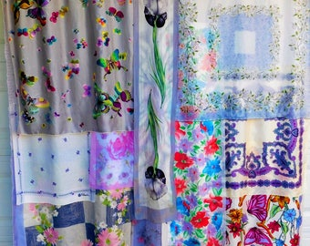 BUTTERFLIES ARE FREE Bohemian Gypsy Shower Curtain VIntage Shower Curtain