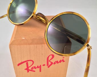 Vintage Ray Ban Bausch And Lomb W1749 Round Cheyenne Tortoise Sunglasses