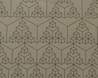 Cubes Tessellation Coloring Page- Instant Download Adult Coloring Page Geometric Design