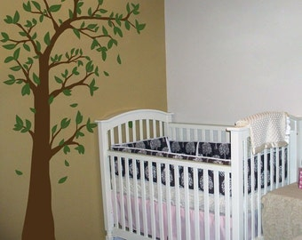 Arching and Waving Tree with Leaves - Wall Decals - Your choice of TWO colors