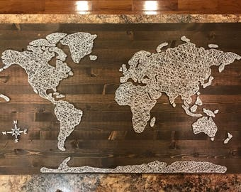 String art etsy huge world map string art gumiabroncs Image collections