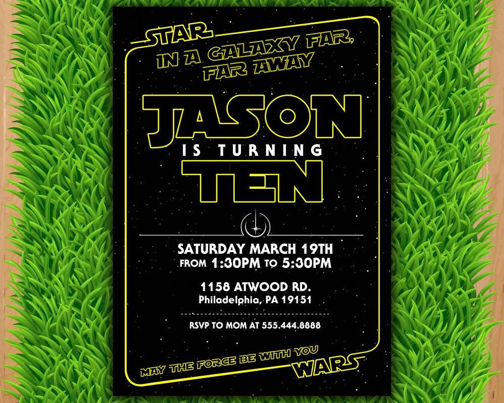 Star Wars Invitation Star Wars Party Invitation Star Wars