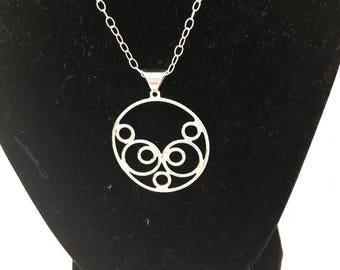 Filigree sterling necklace
