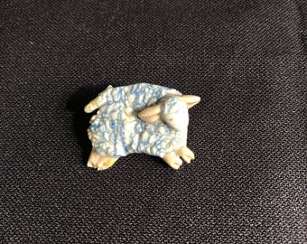 Ceramic Vintage Sheep Pin