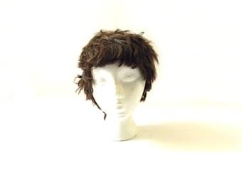 Vintage Women's Short Brown Wig