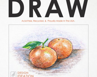 Premium Drawing Paper for Pencil, Ink, Marker and Charcoal. Great for Art, Design and Education. Loose Sheet Packs.