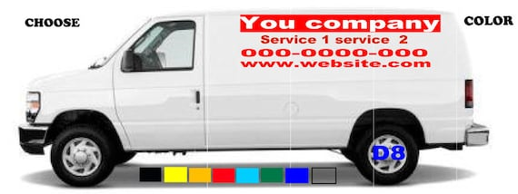 Van truck custom vinyl lettering business signs vehicles