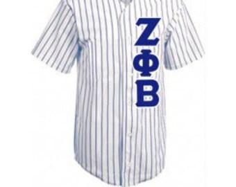 Zeta Phi Beta Letters Baseball Jersey