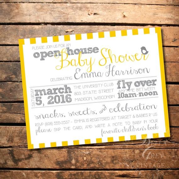 peep baby shower invitation open house shower bird themed