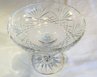 Gorham Crystal Candy and Nut Dish