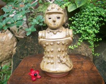 1980s Japanese 埴輪 Haniwa Terracotta Figure Koro Censer Incense Burner