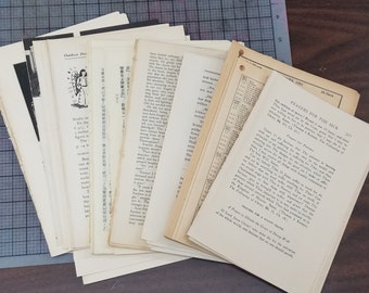 100 Book Pages, junk journal pages , Vintage book pages
