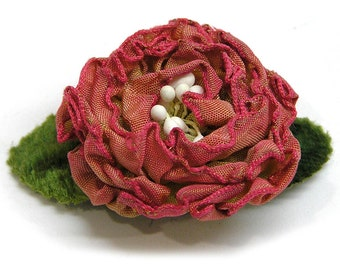 Vintage 1980s Silk Flower Button Cover