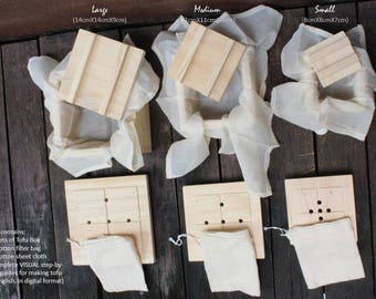 Quality Wooden Tofu Maker Kit (3 sets)/ Tofu Mold/Tofu Box