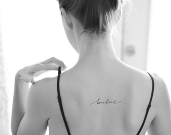 Modern calligraphy tattoo travel wanderlust tattoo by