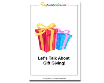 Let's Talk About Gift Giving Social Story