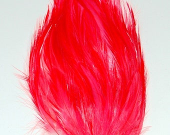 3 pcs HACKLE Feather Pads - Coral