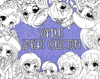 YamPuff Lineart Collection - 150+ Linearts - Instant Digital Download