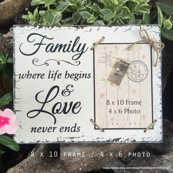Family Frame, Family Picture Frame, Family, where life begins and ...