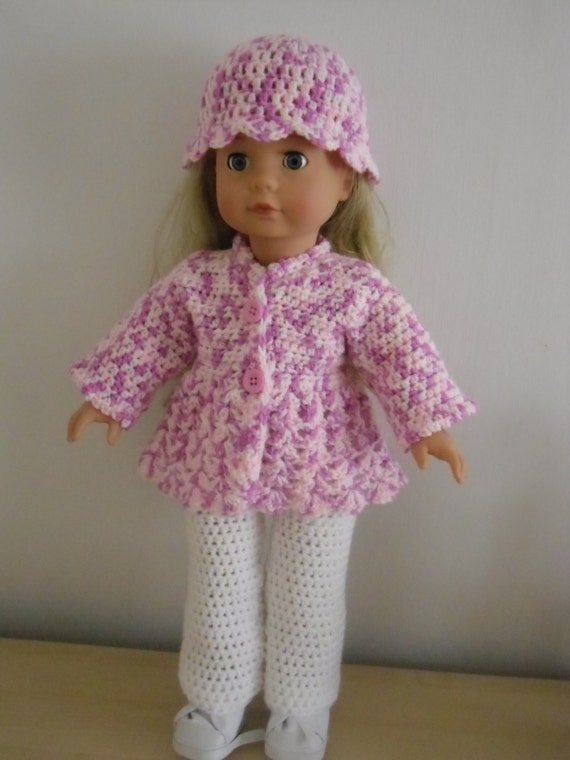 Pdf Crochet Pattern For 3 Piece Set For 18 Inch Doll American
