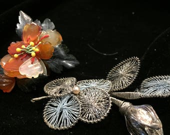 Vintage brooch - 2 handmade brooches from the 50's   amazing    item no. VP040