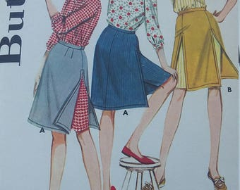 Vintage Butterick 3016 Sewing Pattern Pirt and Blouse Size 12 or Size 14 (1 of each available)