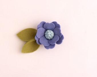 blue felt headband, Felt headband, felt flower headband, little girl headband, toddler felt headband, blue felt headband, felt flowers