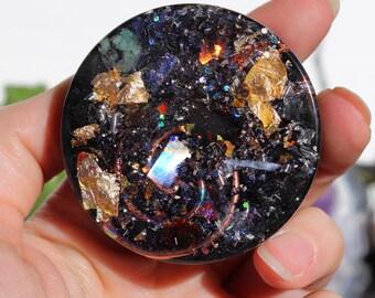 Orgonite® - Handmade - Orgone Generator® - EMF Protection - Cleansing Puck - Orgone Energy - Crystals - Gift - Love - HoodXHippie