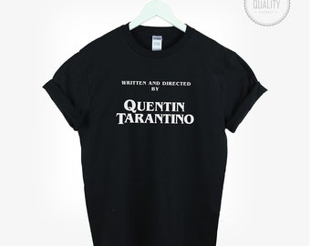 Written by Quentin Tarantino t-shirt tee top unisex womens mens cute tumblr men women pinterest blogger instagram *brand new