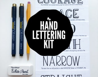 Hand Lettering Kit, Hand Lettered Truth