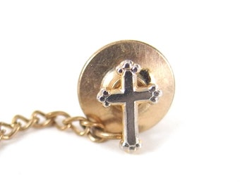 Vintage Budded Orthodox Cross Tie Tack