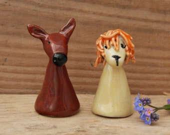 Ceramic Lion, Pottery Antelope, Soft Brown Antelope, Collectable Wild Animals, Wild African Animals, Handmade in Dorset, Unique Design