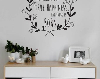 Nursery Wall Decal Quote You Cannot Buy True Happiness | Kids Wall Decal | Nursery Decor | Wall Decor | Vinyl Wall Sticker | Scandinavian