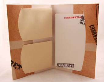 New! Set of Two (2) Vintage Lap Pack Stationery Set. 16 Sheets and 8 Envelopes. 200BM633-9