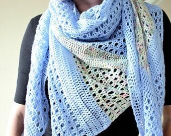 Off Your Rocker. Crochet Shawl Pattern PDF download