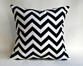 Black White Chevron Pillow Cover Decorative Throw Pillows